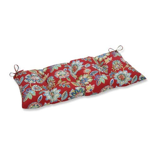 Cherry Outdoor Swing - Pillow Perfect Outdoor/Indoor Daelyn Cherry Swing/Bench Cushion