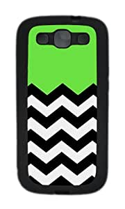 Samsung S3 Case,VUTTOO Cover With Photo: Lime Chevron For Samsung Galaxy S3 I9300 - TPU Black