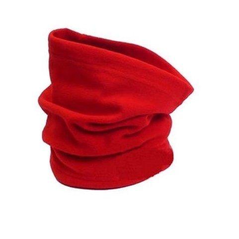 Neck Warmer Outdoor Fleece Scarf turtleneck collar men and women winter multifunctional headgear warm mask hat red