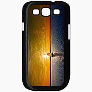 Unique Design Fashion Protective Back Cover For Samsung Galaxy S3 Case Beautiful Ocean Sunset Beautiful Black