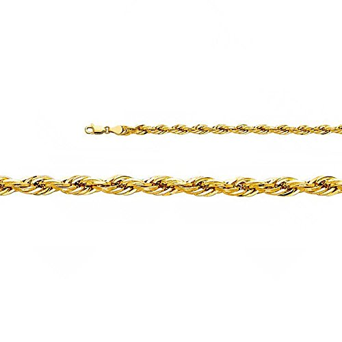 14k-Yellow-Gold-5mm-Hollow-Diamond-Cut-Rope-Chain-Necklace-with-Lobster-Claw-Clasp