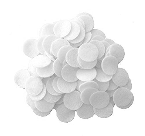 - Playfully Ever After 1 Inch White 100pc Stiff Felt Circles