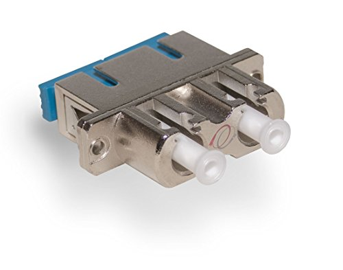 FiberCablesDirect - LC to SC Fiber Adapter F/F DX | Metal Hybrid LC SC Fiber Optical Adapter | Duplex Female to Female Singlemode Multimode Hybrid Adapter | Alt: dup lc/sc adapter coupler sc-lc sm mmf ()