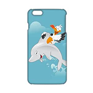 Cool-benz Fresh dolphin and bird 3D Phone Case for iPhone 6 plus