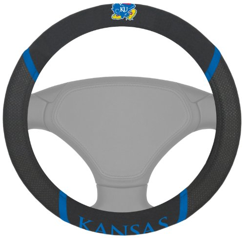 FANMATS NCAA University of Kansas Jayhawks Polyester Steerin