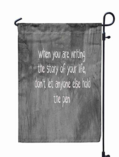 Shorping Welcome Garden Flag, 12x18Inch Inspiration Motivation When You are Writing Story of Your Life Let for Holiday and Seasonal Double-Sided Printing Yards -
