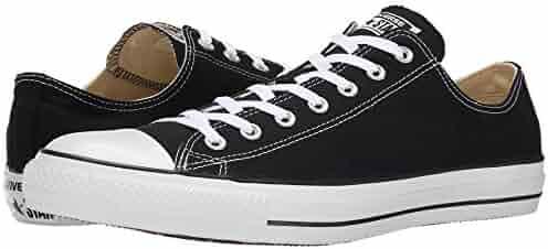 Converse Unisex Chuck Taylor All Star Low Top Black/White Sneakers - 6 B(M) US Women / 4 D(M) US Men