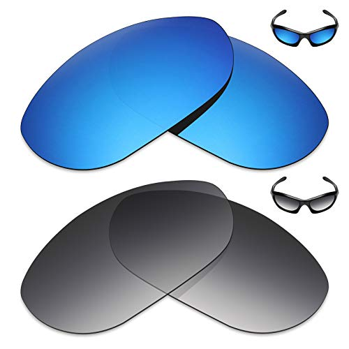 Mryok 2 Pair Polarized Replacement Lenses for Oakley Monster Dog Sunglass - Options