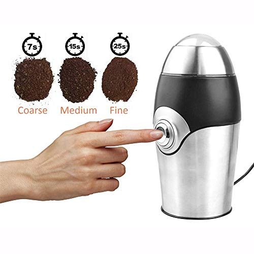Electric Coffee Grinder Blade Mill,Bigaint 150W Stainless Steel Coffee Grinder Powder Grinding Machine For Coffee Bean,Nuts, Spices,Chinese Medicine For Sale