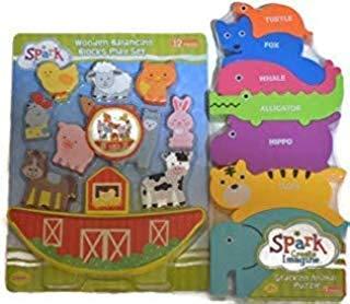 Stacking Farm Animal Set and Stacking Animal Puzzle Bundle