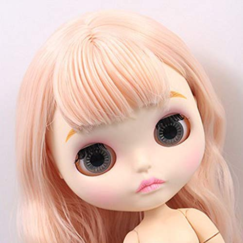 D DOLITY Doll Makeup Faceplate Head Shell Eyebrow Elegant 12inch Takara RBL Neo Blythe DIY Accessory White Skin