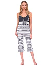 Body Candy Women's Lightweight Silky Soft Tank Top and Capri Pajama Set