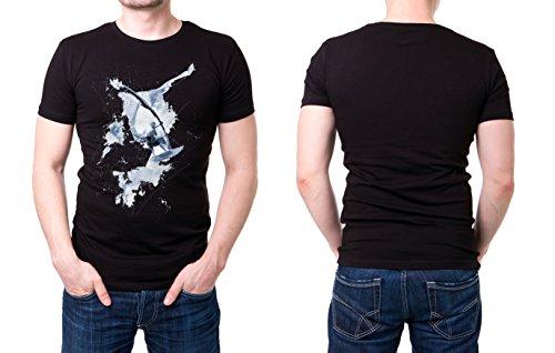 Windsurfer_I schwarzes modernes Herren T-Shirt mit stylischen Aufdruck