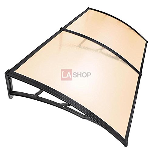 6.5ft Awning Canopy Window Door Coffee Polycarbonate by Jacoble