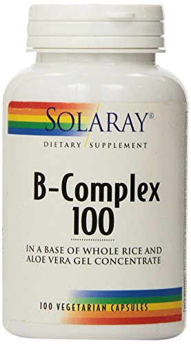 Solaray - B-Complex, 100 mg, 100 capsules