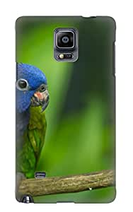 Awzzwn-1668-nbaodws Exultantor Animal Parrot Durable Galaxy Note 4 Tpu Flexible Soft Case With Design