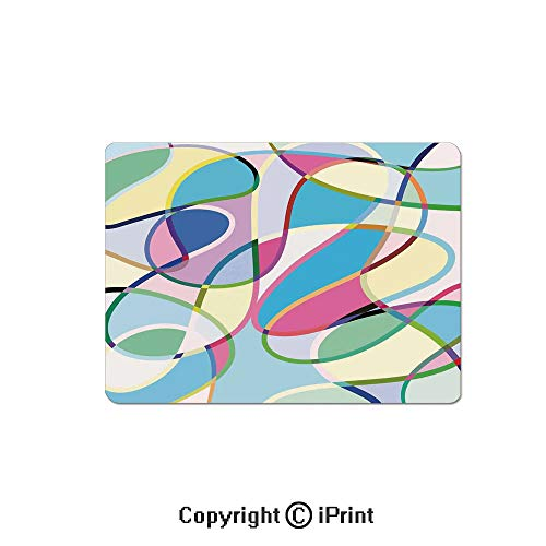 Gaming Mouse Pad Custom,Odd Experimental Mix of Drawings Altering Active Motion States Artwork Mouse Mat,Non-Slip Rubber Base Mousepad,7.9x9.5 -