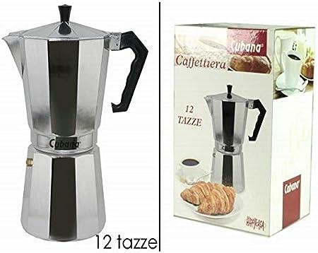 Máquina para cafetera caffã ¨ moka clásica Cubana de 12 tazas: Amazon.es: Hogar