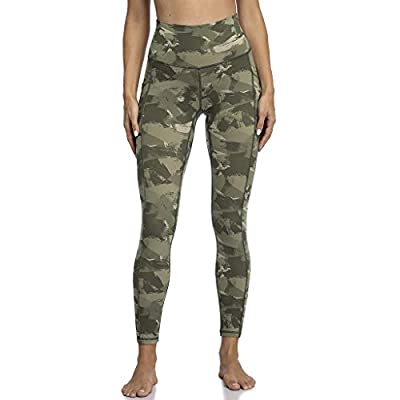 KANGMOON Women's High Waisted Yoga Pants 7/8 Length Leggings with Pockets High Waisted Pattern Leggings: Clothing