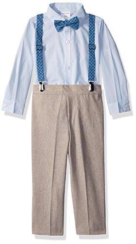 Van Heusen Baby Boys Four Piece Suspender Set, Linen Cornstalk, 24M for $<!--$12.89-->
