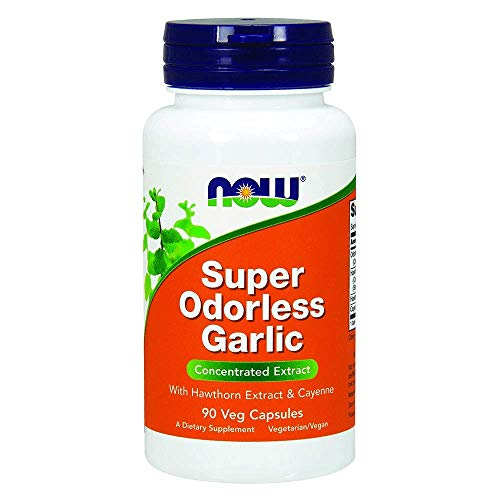 Super Garlic - Now Super Odorless Garlic,90 Veg Capsules