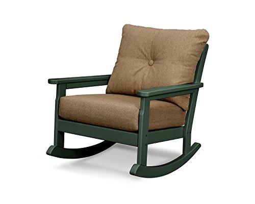 - POLYWOOD Vineyard Deep Seating Rocking Chair (Green/Sesame)