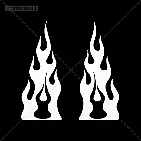 Amazon Com Vinyl Stickers Decal Pair Of Flames Motor Racing Car For