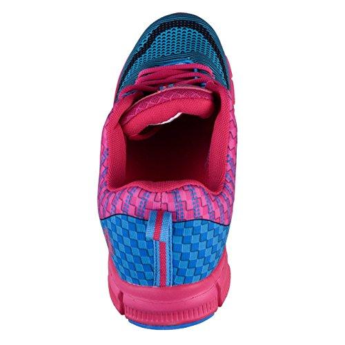 HSM Women's Running Shoes Blue/Pink NT9PRo