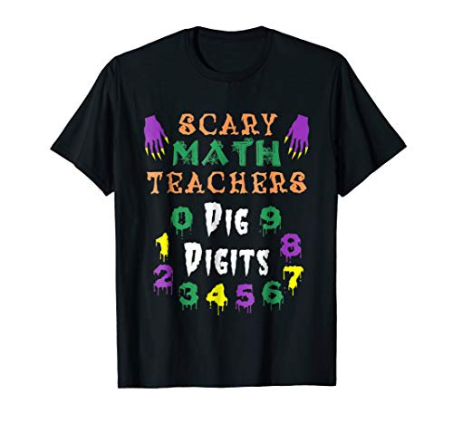 Funny Halloween Numbers T-Shirt Costume for Math Teach