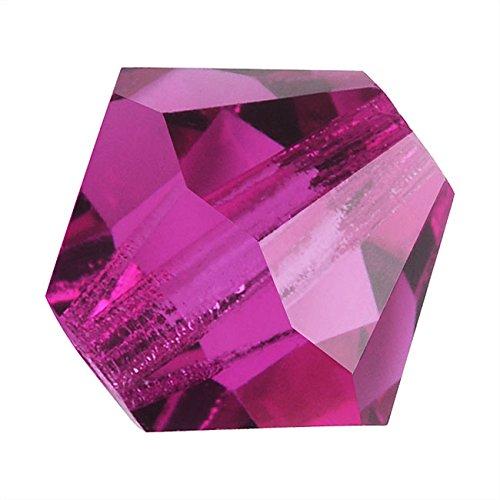 Preciosa Czech Crystal Glass Beads 6mm Bicone 'Fuchsia' Pink (20)