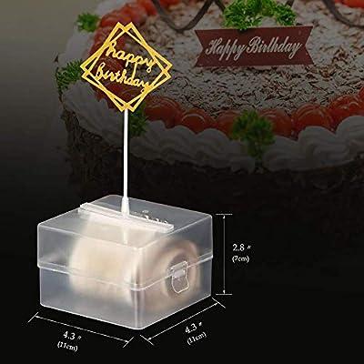 Cake ATM - Happy Birthday Cake Topper Caja de Dinero de plástico no tóxico Divertido Molde Contacto con Alimentos Seguro, Sorpresa de Fiesta con 20 Bolsas de plástico: Amazon.es: Hogar