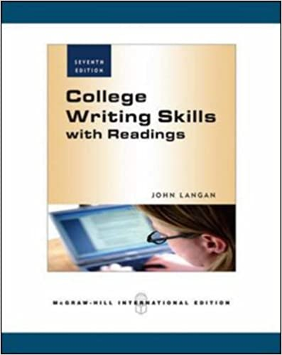 College writing skills with readings 7th edition john langan college writing skills with readings 7th edition john langan 9780071266529 amazon books fandeluxe
