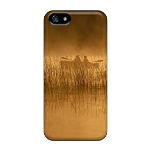High-quality Durable Protection Case For Iphone 5/5s(early Morning Fishing On A Misty Lake)