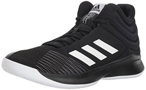adidas Men's Pro Spark 2018 Basketball Shoe, Black/White/Grey, 10.5 M US