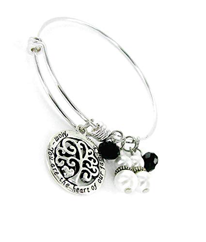 Family Expandable Charms Bangle, Silver ()