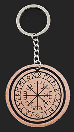 Llavero Vegvísir con runas vikingo: Amazon.es: Handmade