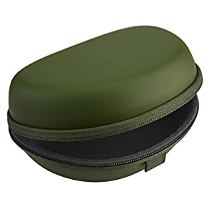 Geekria Headphone Case for Beats Solo3, Solo 3 Wireless, Beats Solo2 On-Ear Headphones Hard Carrying Case / Headset Protective Travel Bag with Space for Cable, Parts and Accessories (Turf Green)