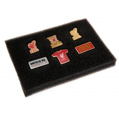 Liverpool FC 6 Piece Metal Badge Set