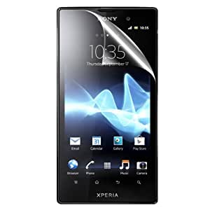 C.Skins 2 -Pack Premium Clear Screen Protector for Sony XPERIA ION LT28AT Invisible LCD Guard Cover