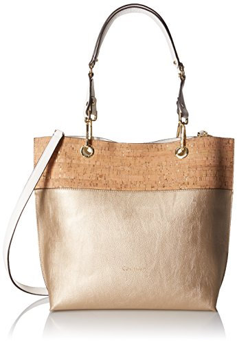 Calvin Klein Sonoma Reversible Tote, Pale Gold/Cork