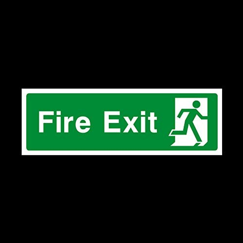 Final Exit Sign - Fire Exit Final Right 300x100mm Plastic Sign - Fire / Emergency / Exit / Alarm / Push / Extinguisher / Assembly (EE75) by USSP&S
