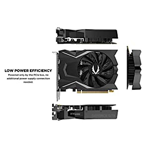 ZOTAC Gaming GeForce GTX 1650 OC 4GB GDDR5 128-Bit Gaming Graphics Card, Super Compact, ZT-T16500F-10L