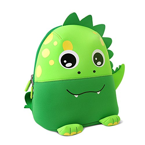 1ad45ba94047 Dinosaur Kids Backpack F40C4TMP Toddler Kindergarten Pre-School Waterproof  Animal Cartoon Bag Green Neoprene Shoulder Bag Boys Girls