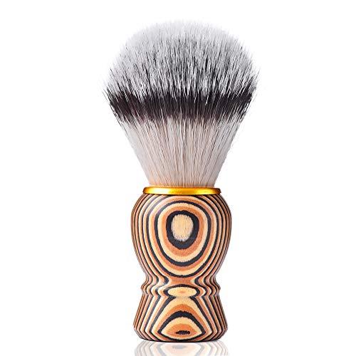 Je&Co Vintage Shaving Brush for Men, Dense Knot with wooden Tribal Style Handle