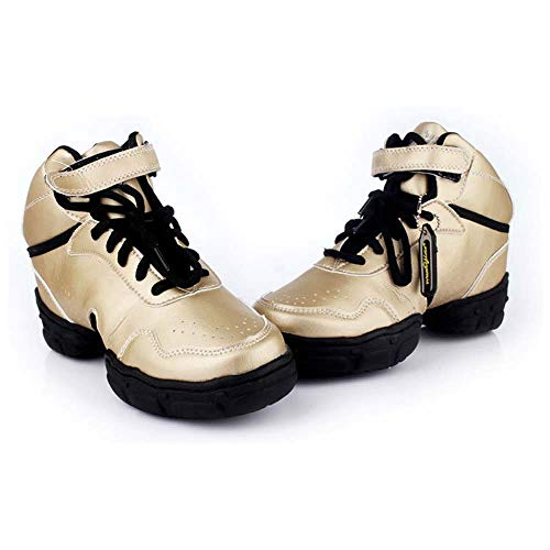 De Mujer Gold Transpirable Cuadrado Champán Cómodo Fondo Y Baile Baile Suave Gongff Zapatos 75O4WOt