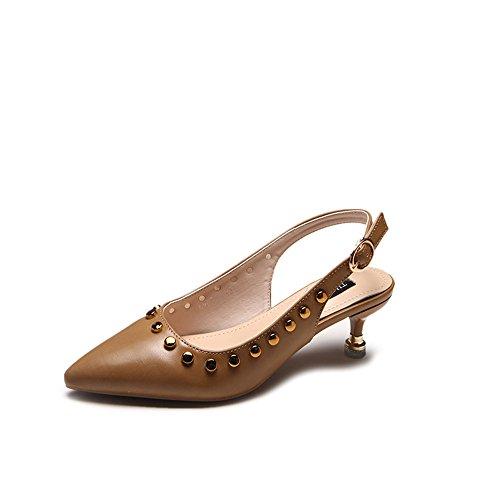 CXSM shoes elegante remaches en fino y volver a fuera de cabezal yellow