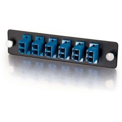 C2G #31116 Q-Series 12-Strand, LC Duplex, PB Insert, MM/SM, Blue LC Adapter Panel Duplex Pb Insert