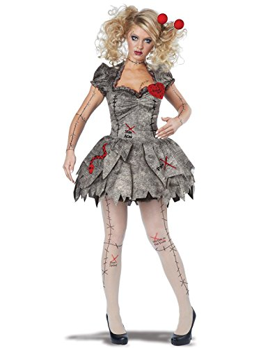 California Costumes Women's Voodoo Dolly Costume, Tan X-Large