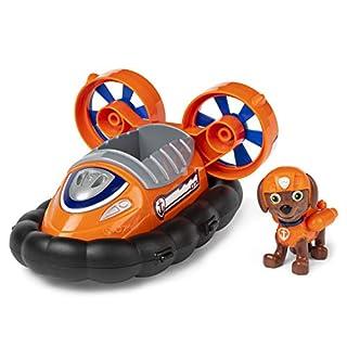 Paw Patrol, el vehículo aerodeslizador de Zuma con figura coleccionable, para niños de 3 años en adelante