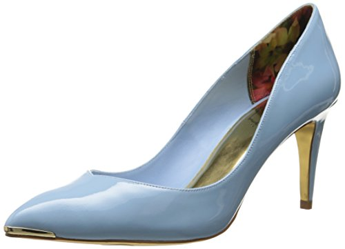 Ted Baker Women's Moniirra Dress Pump, Light Blue Patent, 7.5 M US